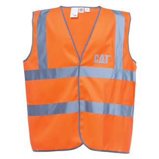 CAT Printed Hi-Vis Vest Hi-Vis Orange