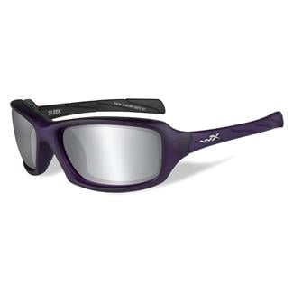 Wiley X Sleek Matte Violet (frame) - Silver Flash (Smoke Gray) (lens)