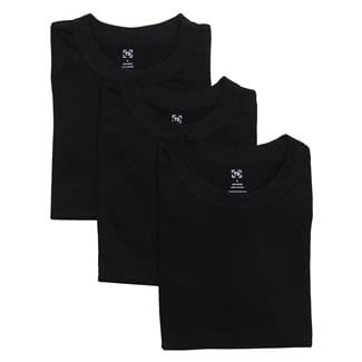 TG Crew Neck T-Shirts (3 Pack) Black