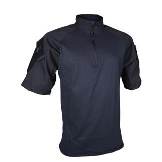 TRU-SPEC Nylon / Cotton 1/4 Zip Short Sleeve Combat Shirt Black / Black