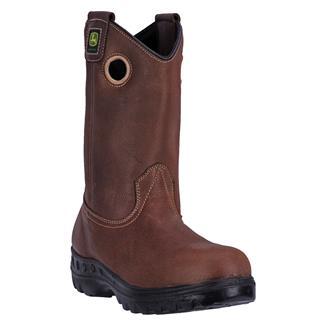 "John Deere 11"" WCT Pull-On Leather ST WP Whiskey Amarillo"