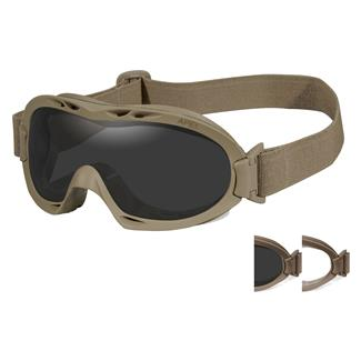 Wiley X Nerve (APEL) Coyote Tan (frame) - Smoke Gray / Clear (2 lenses)