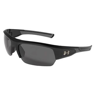 Under Armour Big Shot Storm Satin Black (frame) - Charcoal Gray Storm Polarized (lens)