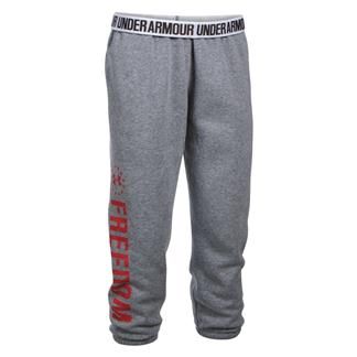 Under Armour HeatGear Freedom Favorite Fleece Capris Tru Gray Heather / Red