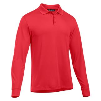 Under Armour Long Sleeve Performance Polo Red / Red