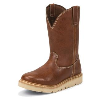 "Justin Original Work Boots 10"" Worker II Tan Action"