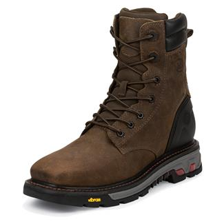 "Justin Original Work Boots 8"" Pipefitter Square Toe ST WP Tobacco"