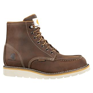 "Carhartt 6"" Moc Toe Wedge WP Dark Bison Brown"