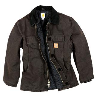 Carhartt Sandstone Traditional Coat Dark Brown