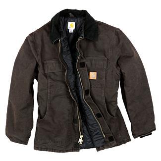 Carhartt Sandstone Traditional Coat Dark Brown