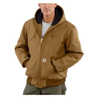 Carhartt Quilted Flannel Lined Duck Active Jacket Carhartt Brown