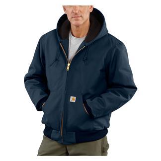Carhartt Quilted Flannel Lined Duck Active Jacket Dark Navy