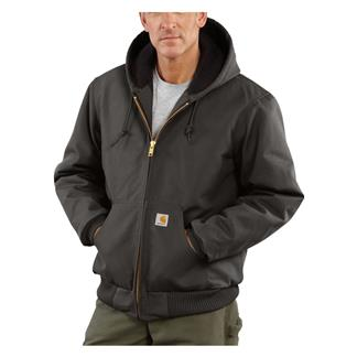 Carhartt Quilted Flannel Lined Duck Active Jacket Gravel