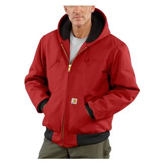 Carhartt Quilted Flannel Lined Duck Active Jacket Red