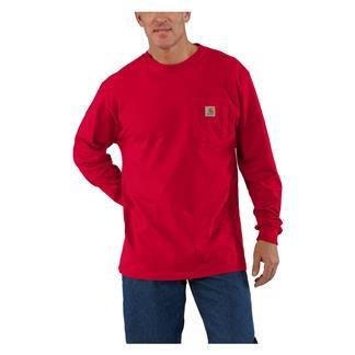 Carhartt Long Sleeve Workwear Pocket T-Shirt Red