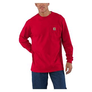 Carhartt Long Sleeve Workwear Pocket T-Shirt Red
