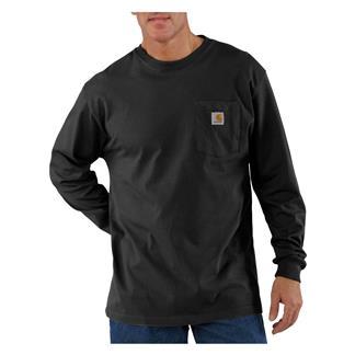 Carhartt Long Sleeve Workwear Pocket T-Shirt Black