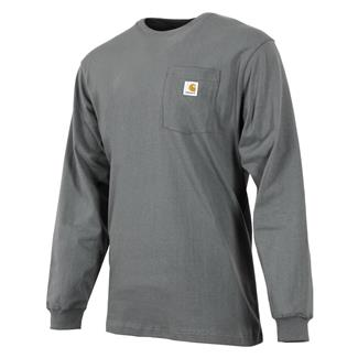 Carhartt Long Sleeve Workwear Pocket T-Shirt Charcoal