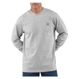 Carhartt Long Sleeve Workwear Pocket T-Shirt Heather Gray