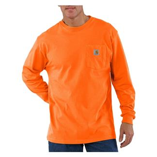 Carhartt Long Sleeve Workwear Pocket T-Shirt Orange