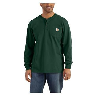 Carhartt Long Sleeve Workwear Pocket Henley Hunter Green