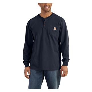 Carhartt Long Sleeve Workwear Pocket Henley Navy