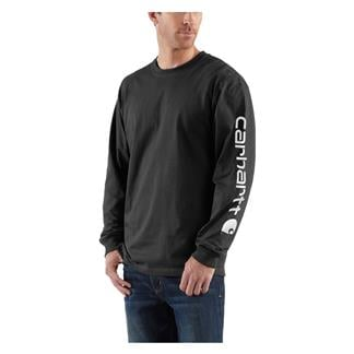 Carhartt Long Sleeve Logo T-Shirt Black