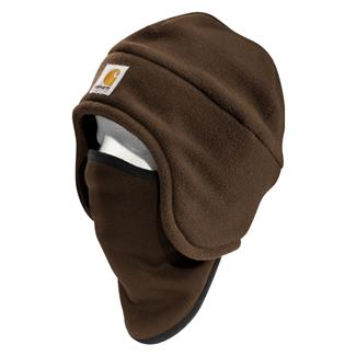 Carhartt 2 In 1 Fleece Headwear Dark Brown