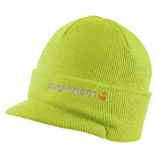 Carhartt Knit Hat With Visor Brite Lime