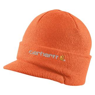 Carhartt Knit Hat With Visor Brite Orange