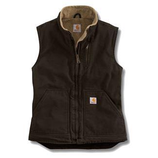 Carhartt Sandstone Mock Neck Vest Dark Brown