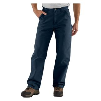 Carhartt Washed Duck Work Dungaree Pants Midnight