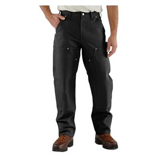 Carhartt Firm Duck Double Front Work Dungaree Pants Black
