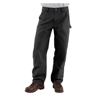 Carhartt Washed Duck Double Front Dungaree Pants Black