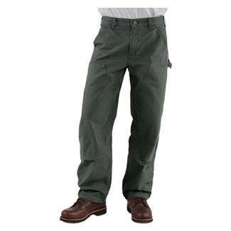 Carhartt Washed Duck Double Front Dungaree Pants Moss