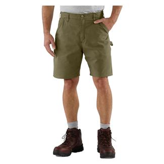 Carhartt Canvas Utility Work Shorts Army Green