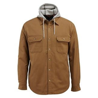 Wolverine Overman Hooded Shirt Jacket Chestnut
