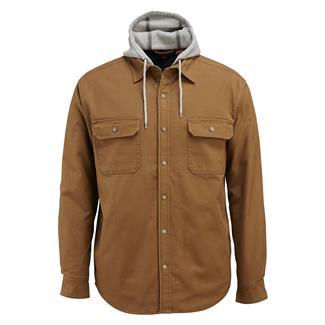 Wolverine Overman Hooded Shirt Jacket Chestnut