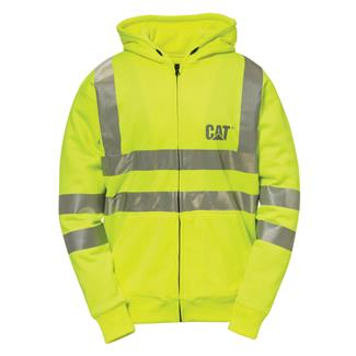 CAT Hi-Vis Full Zip Lined Sweatshirt Hi-Vis Yellow