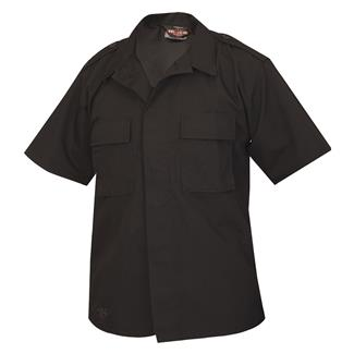 TRU-SPEC Short Sleeve Poly / Cotton Ripstop Tactical Shirt Black