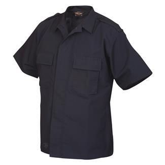TRU-SPEC Short Sleeve Poly / Cotton Ripstop Tactical Shirt Navy