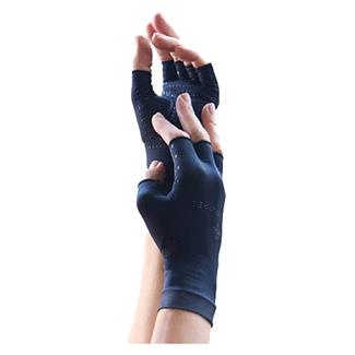 Tommie Copper Core Compression Half Finger Gloves Black