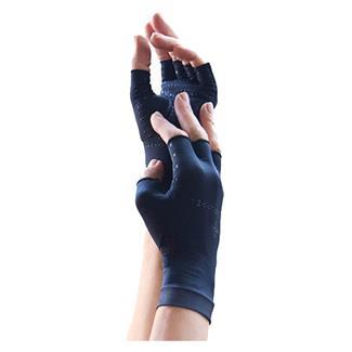Tommie Copper Core Compression Half Finger Gloves Black