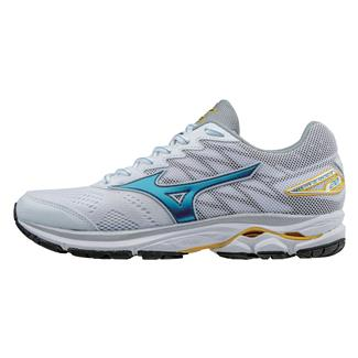 Mizuno Wave Rider 20 White / Norse Blue / Solar Power