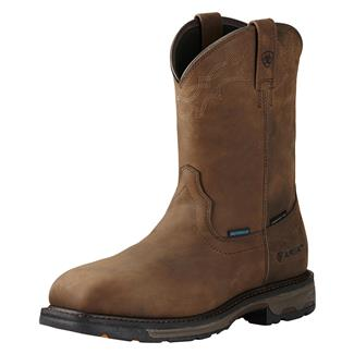 """Ariat 11"""" Workhog Wellington H2O CT WP Oily Distressed Brown"""