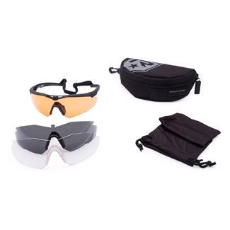 Revision Military StingerHawk Shooters Kit Deluxe Black (frame) - Clear / Solar / Vermillion High-contrast (3 lenses)