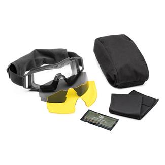 Revision Military Wolfspider Goggle Deluxe Black (frame) - Clear / Solar / Yellow High-contrast (3 lenses)