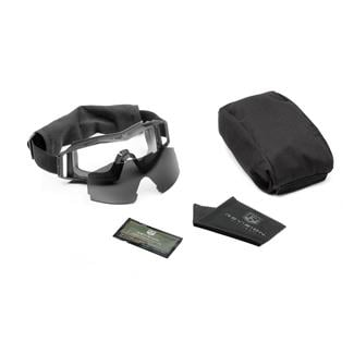 Revision Military Wolfspider Goggle Military Kit Black (frame) - Clear / Smoke (2 lenses)