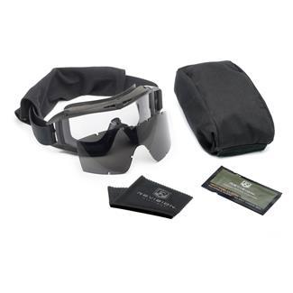 Revision Military Desert Locust Goggle Military Kit Black (frame) - Clear / Smoke (2 lenses)