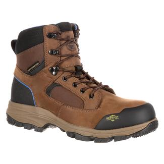 "Georgia 6"" Blue Collar Hiker CT WP Dark Brown"